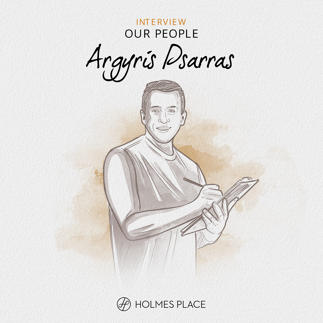 Illustration Argyris Psarras Our People fitness instructor gym personal trainer Holmes Place