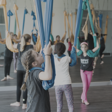 Kids in Antigravity class Holmes Place