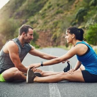 workout couple outdoors fitness Holmes Place