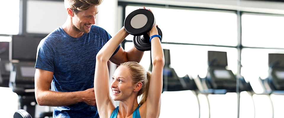 personal trainer support indoor gym fitness exercise holmes place