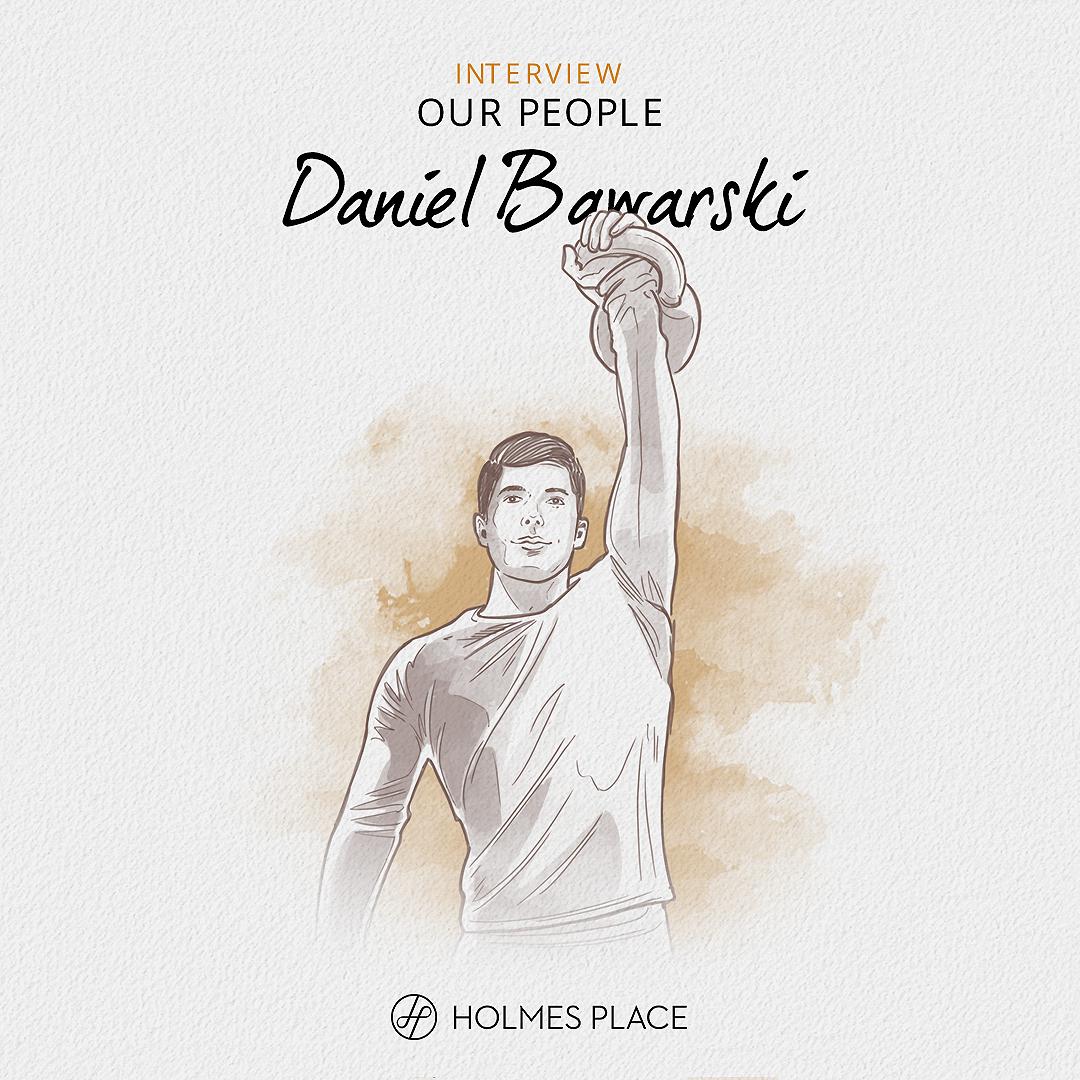 Our People - Daniel Bawarski - Master Trainer Holmes Place Skorosze – Poland illustration fitness personal trainer