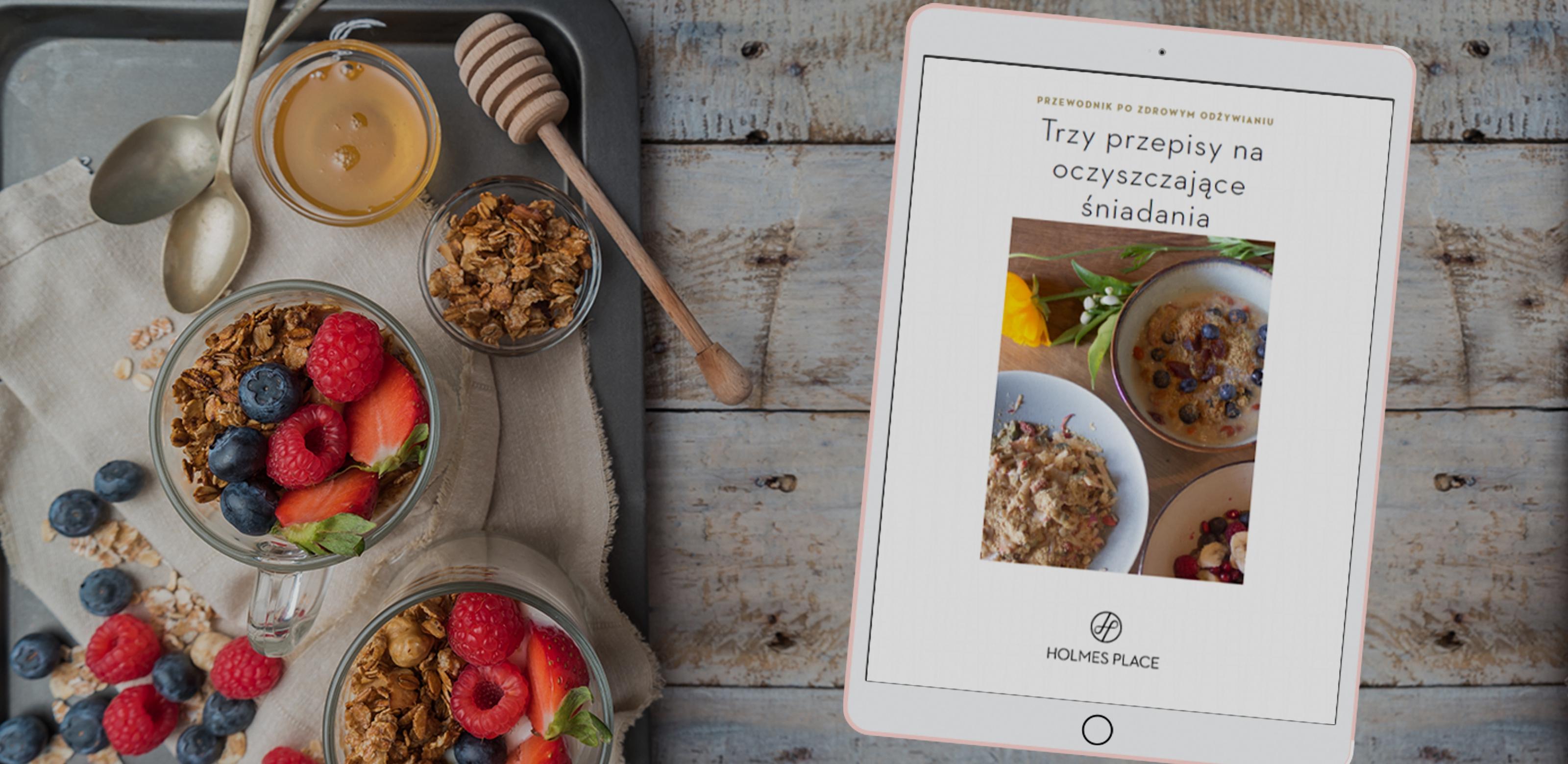 ebook zawierający 3 przepisy na oczyszczające śniadania