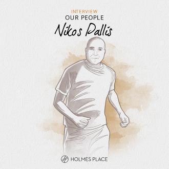 Nikos Pallis illustration runner Holmes Place
