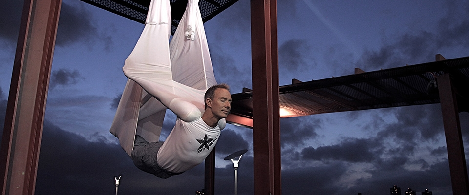 christopher harrison antigravity aerial yoga class Holmes Place