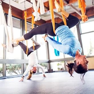 aerial yoga antigravity suspension training