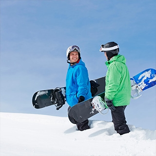 Holmes Place | Two Snowboarders