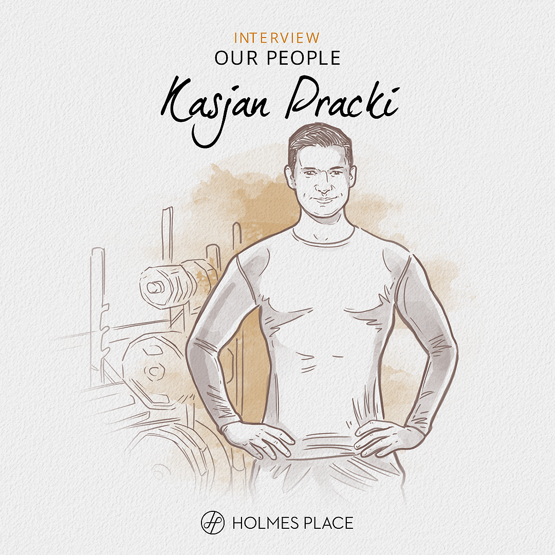 illustration personal trainer Kasjan pracki | Holmes Place