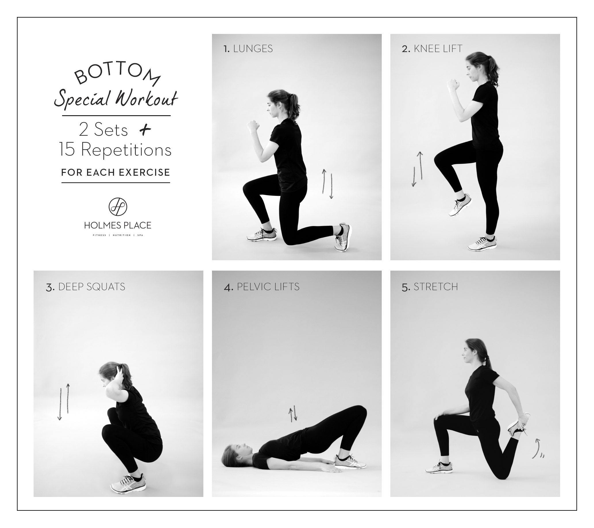 Holmes Place | Bottom Exercises