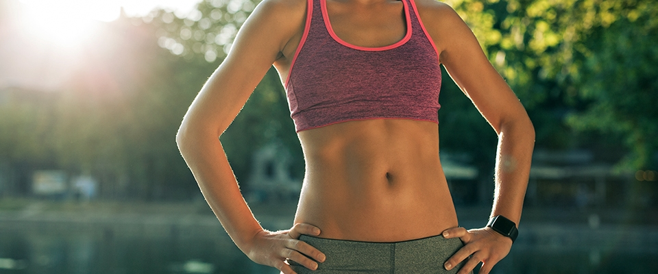 What is our ideal weight, woman abs outdoor