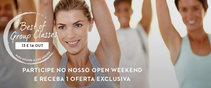 "Evento Open Weekend ""Best of Group Classes"" no Holmes Place"