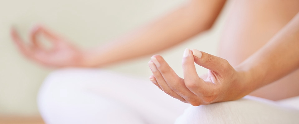 Holmes Place | pregnant exercise meditation yoga