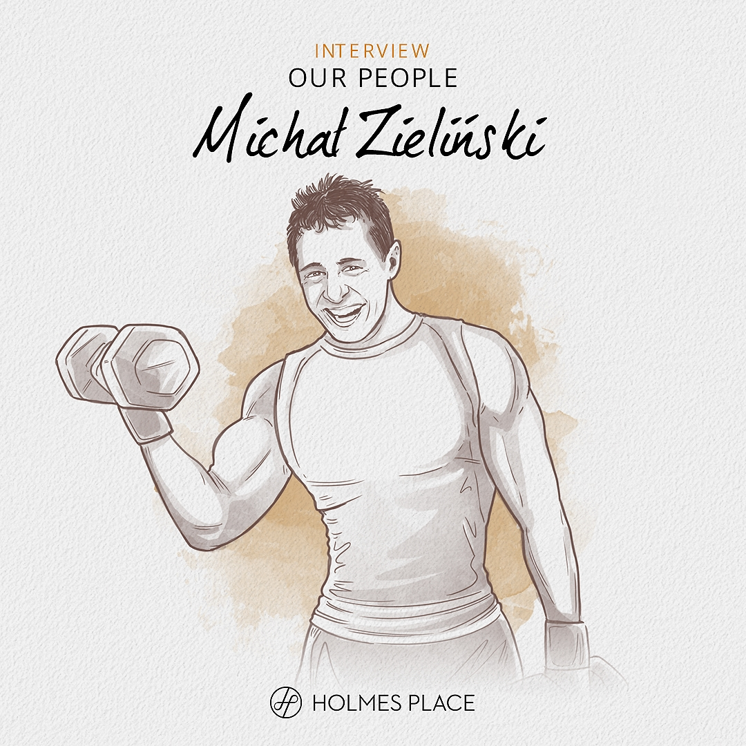 Holmes Place | Illustration Man lifting weight