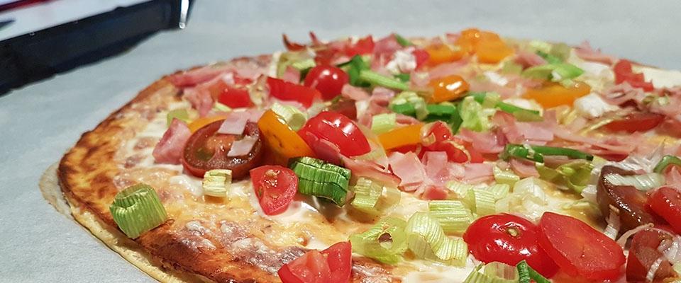 gesundes rezept low carb flammkuchen pizza ernährung