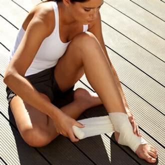 First aid kit ankle woman fitness bandage Holmes Place