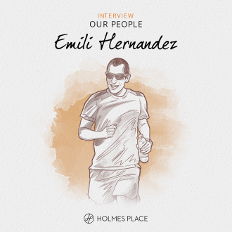 our people emili hernandez holmes place spain, illustration