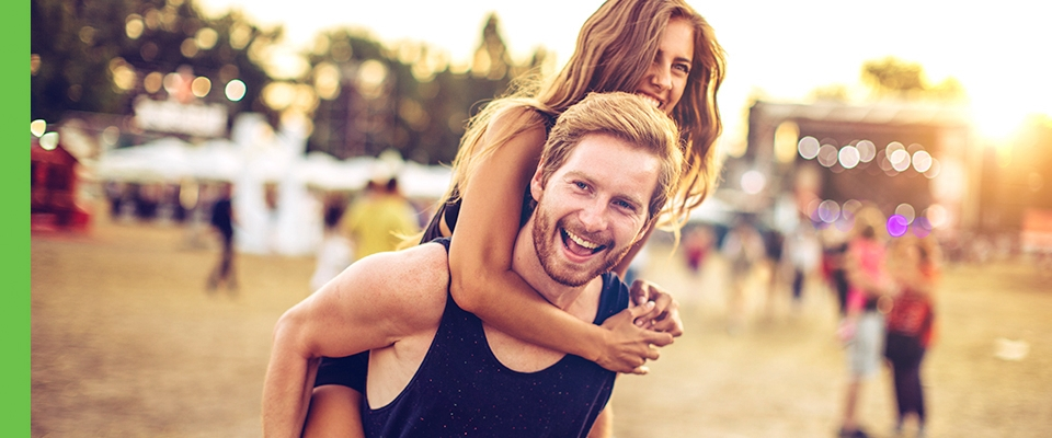 Summer Festival Playlist, man and woman outdoors